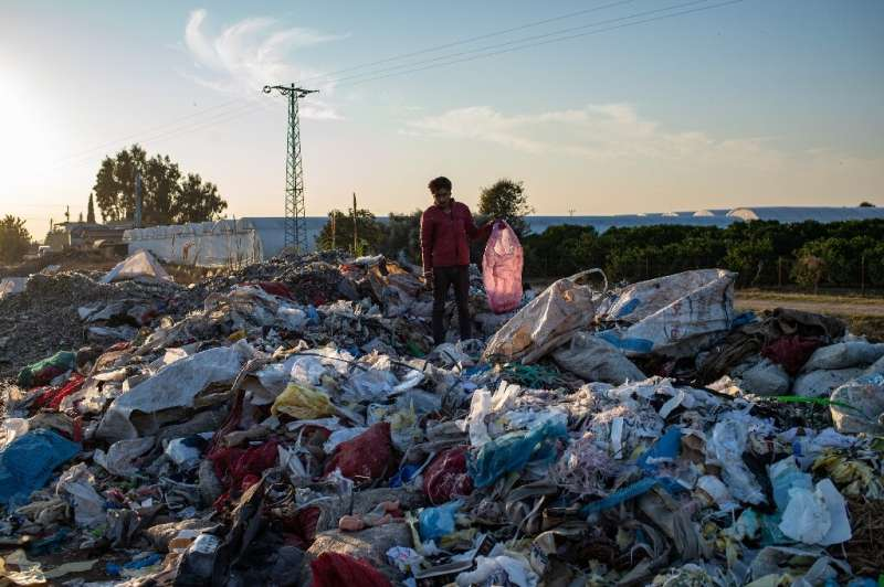 Imported plastic waste meant to be recycled is ending up being dumped illegally in Turkey