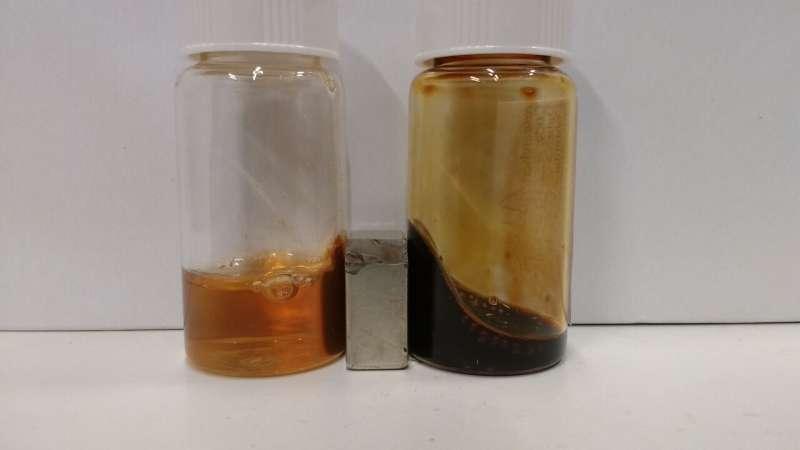 Improved waste separation using super-stable magnetic fluid