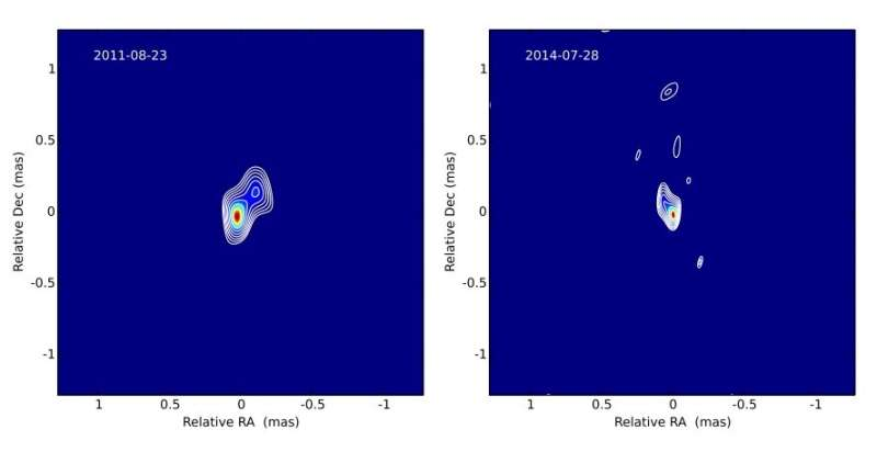 Inner jet of the blazar PKS 1749+096 investigated in detail
