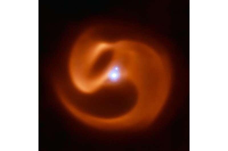 In the eye of a stellar cyclone