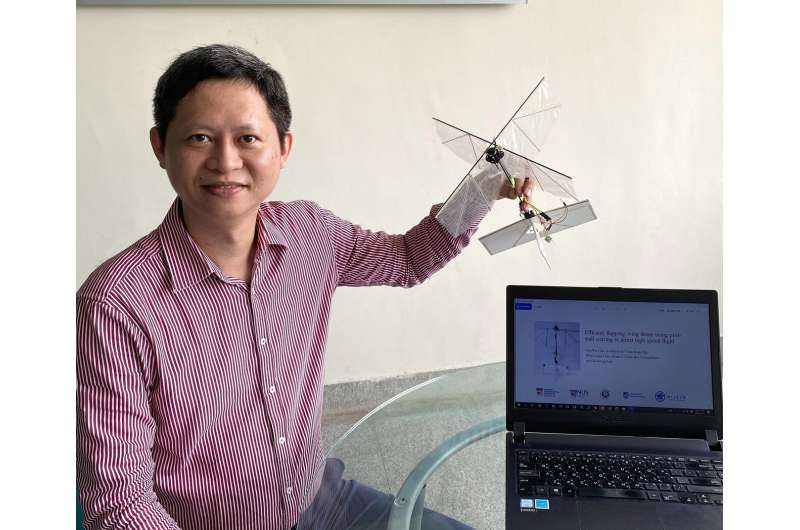 Is it a bird, a plane? Not superman, but a flapping wing drone
