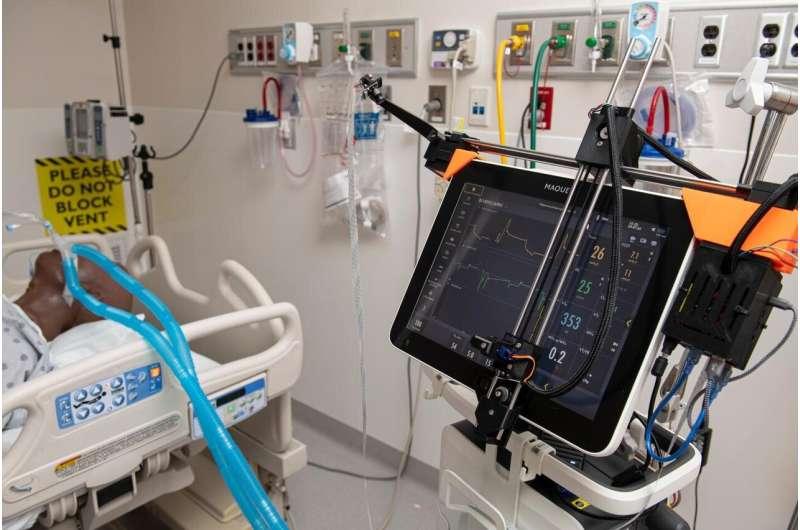 JHU robotic system remotely controls ventilators in COVID-19 patient rooms