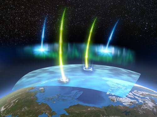 Killer electrons in strumming sky lights