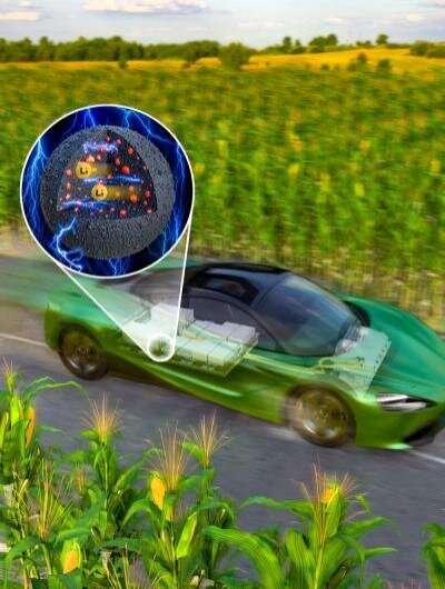 KIST researchers develop high-capacity EV battery materials that double driving range