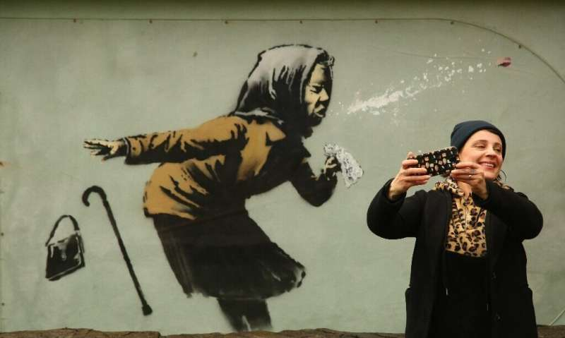 Large respiratory droplets are thought to be the main driver of SARS-CoV-2 transmission. Illustration by Banksy