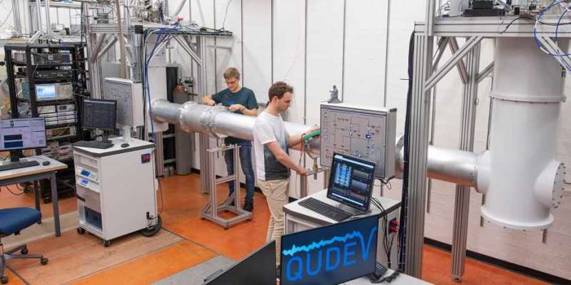Longest microwave quantum link