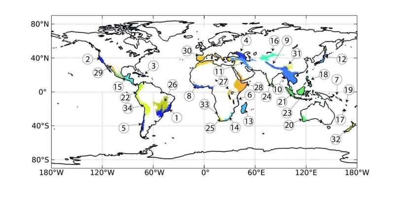 Losing ground in biodiversity hotspots worldwide