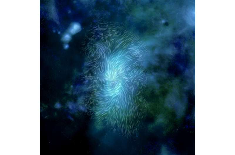 Magnetic fields force new perspective on Milky Way's black hole