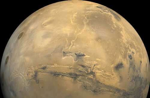Mars seen from the Hubble space telescope