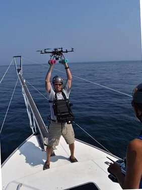 Measuring Atlantic bluefin tuna with a drone