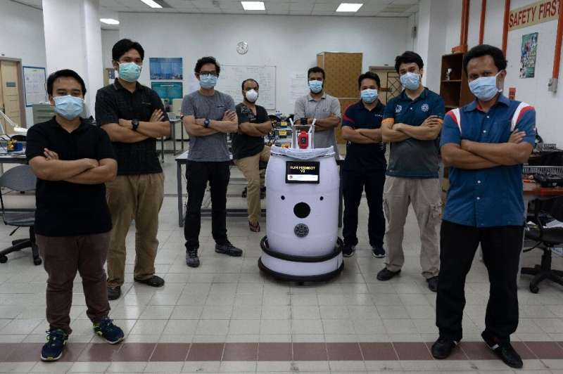 'Medibot' is mounted with a camera and screen via which patients can communicate remotely with medics