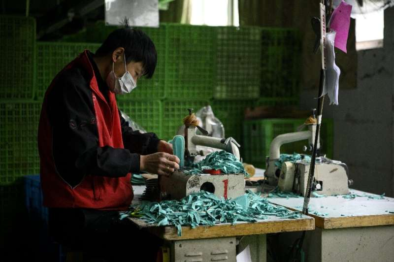 Much of the workforce at Xuda's factory in Wenzhou are absent—blocked by virus-induced travel disruptions and safety measures