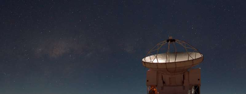 Mystery gas discovered near center of Milky Way