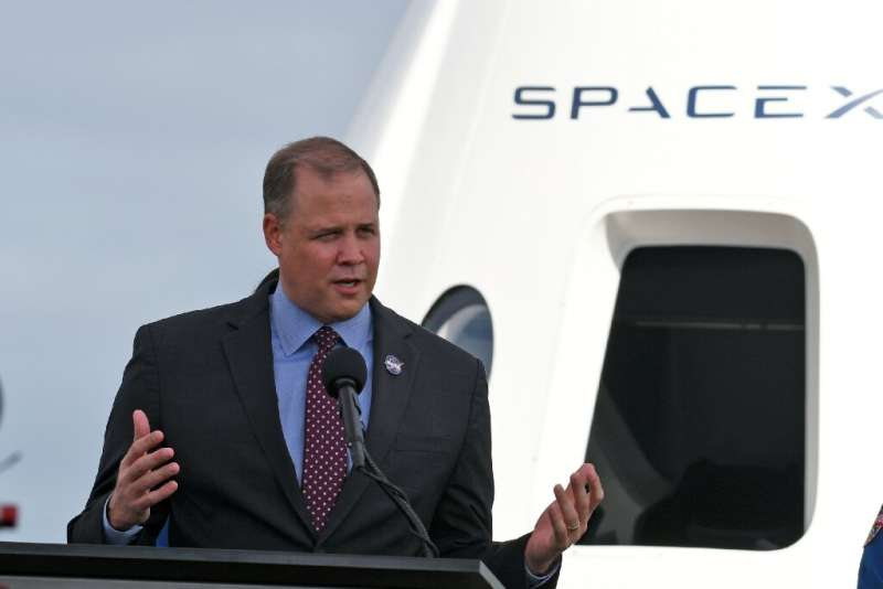 NASA Administrator Jim Bridenstine speaks during a press briefing at the Kennedy Space Center on November 13, 2020 in Cape Canav