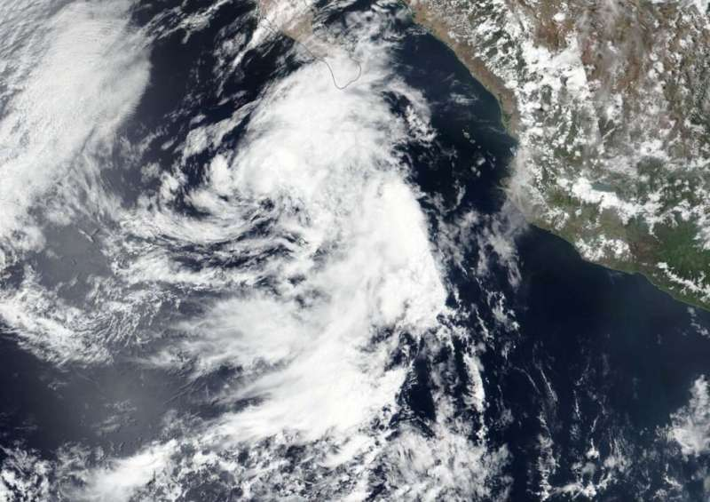 NASA catches a short-lived Eastern Pacific Depression 4E