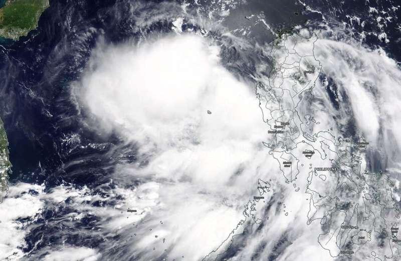 NASA catches development of Tropical Cyclone Nuri in South China Sea