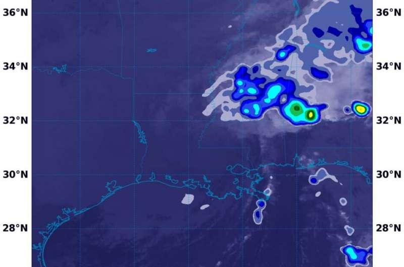 NASA estimating Beta's rains moving into the Tennessee valley