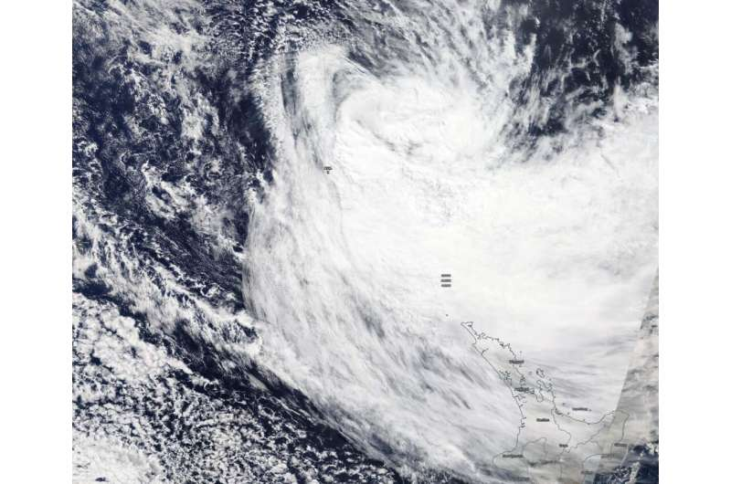 NASA finds Gretel becoming extra-tropical