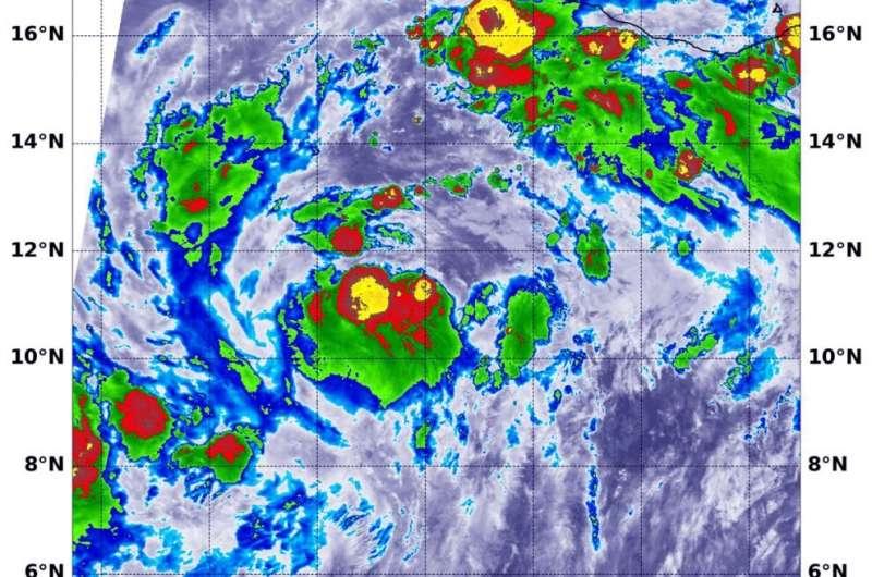 NASA finds powerful storm's around Tropical Storm Cristina's center