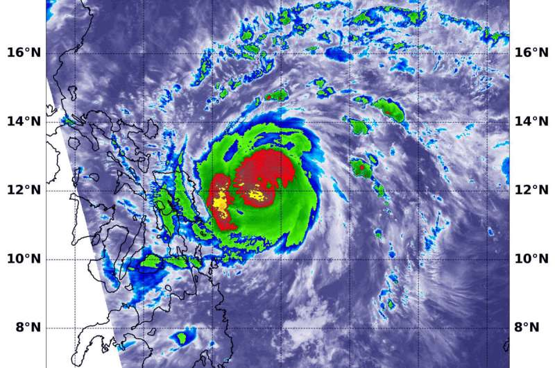 NASA finds Vongfong at typhoon strength Philippine warnings up