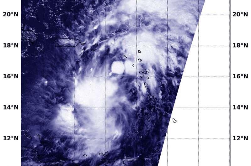 NASA follows potential tropical cyclone 9 into eastern Caribbean