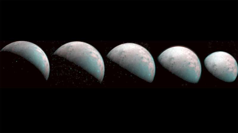 NASA Juno takes first images of jovian moon Ganymede's north pole