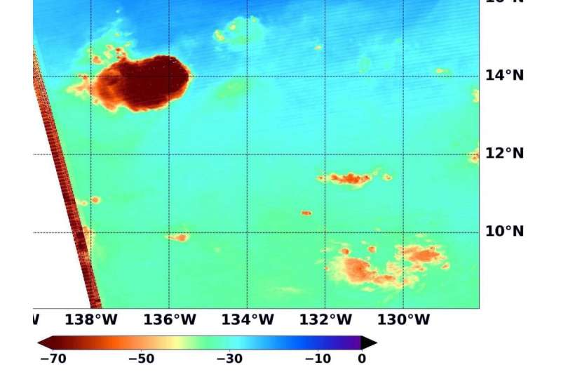 NASA looks at water vapor in remnants of tropical depression 10E