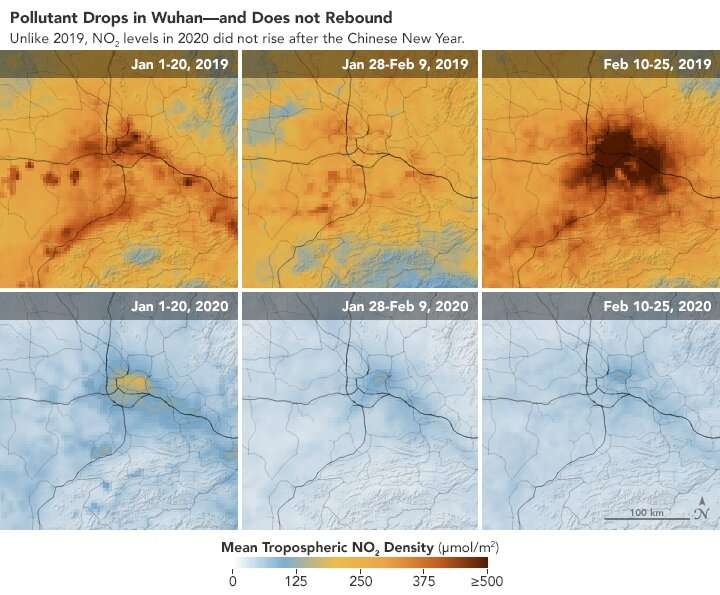 NASA model reveals how much COVID-related pollution levels deviated from the norm