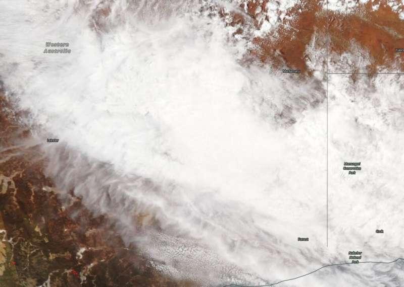 NASA satellite sees Blake's remnants bringing desert rain to Western Australia