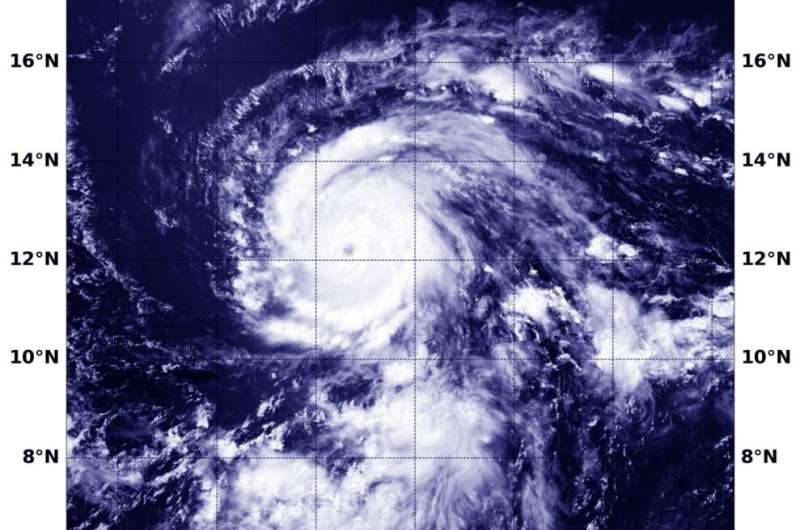 NASA sees compact Douglas strengthening to a major hurricane
