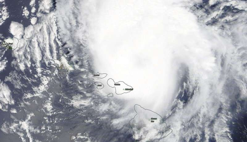 NASA sees hurricane Douglas brush Hawaii