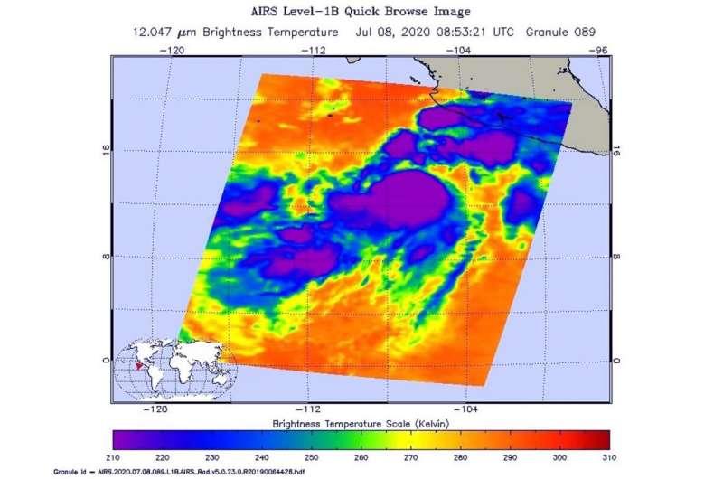 NASA sees storms wrapping around Tropical Cyclone Cristina