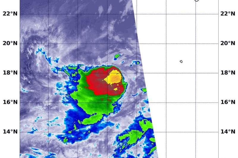 NASA sees wind shear still battering tropical storm Iselle