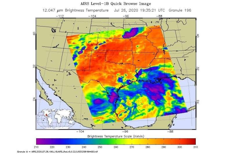 NASA tracks Hanna's soaking path into Mexico