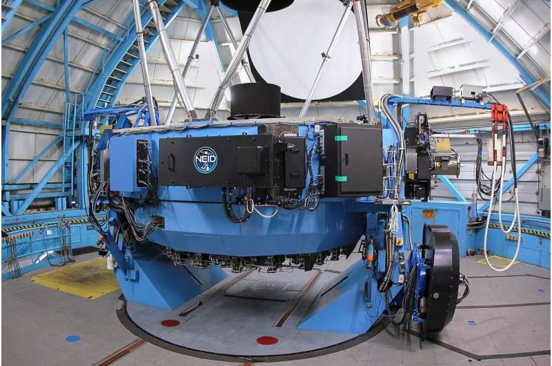NEID exoplanet instrument sees first light