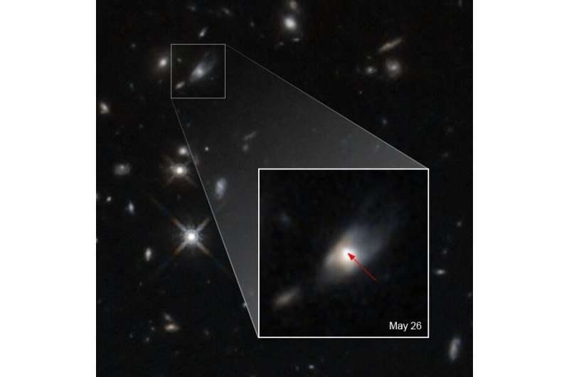 Neutron star merger results in magnetar with brightest kilonova ever observed