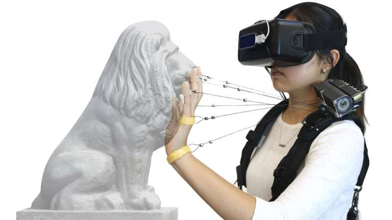 New device simulates feel of walls, solid objects in virtual reality