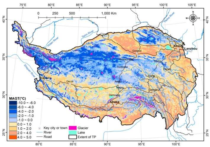 New permafrost thermal stability map better describes the permafrost on the Tibetan Plateau