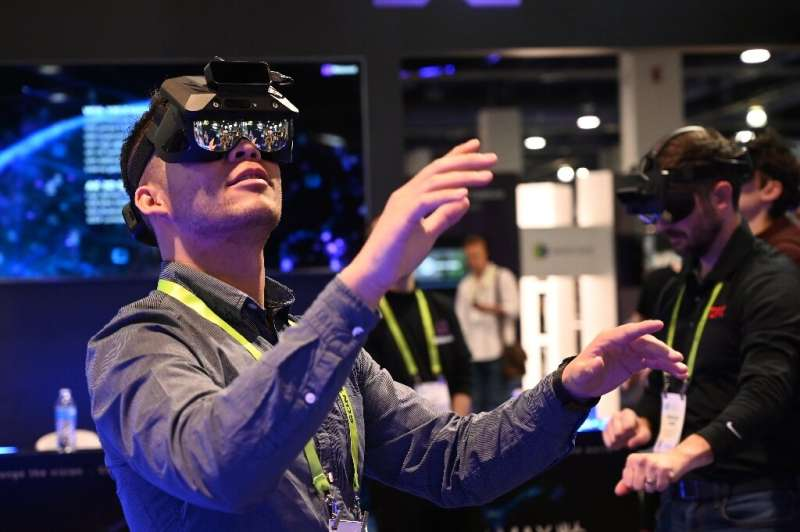 New products using augmented and virtual reality, such as these AR glasses seen at the 2019 Consumer Electronics Show, are expec