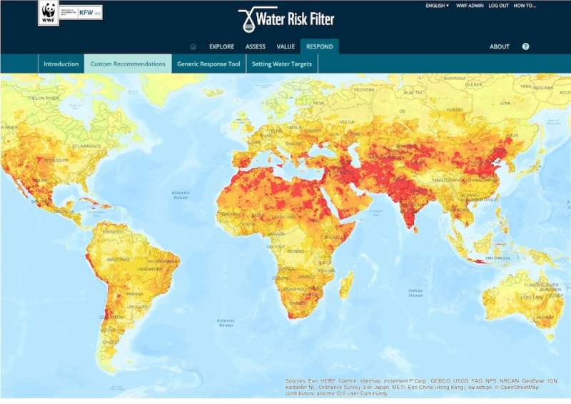 New report compares water risk tools for companies and investors