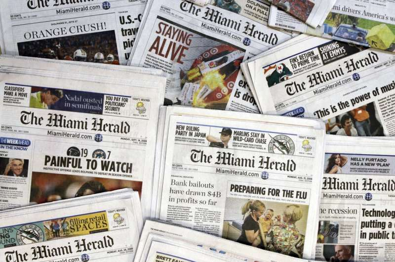 Newspaper chain McClatchy files for bankruptcy protection