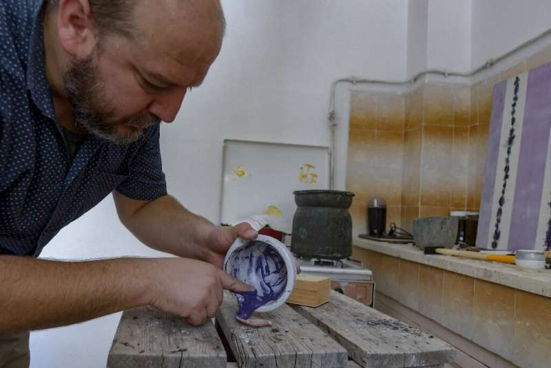 No historical documents clearly detail the production methods for the purple pigment, Drine said