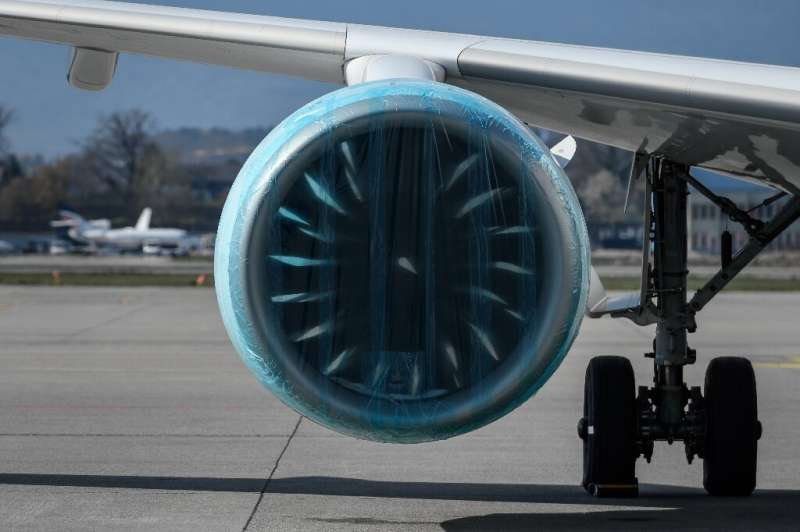 No mothballs, but airlines have taken measures to protect idle planes from the elements