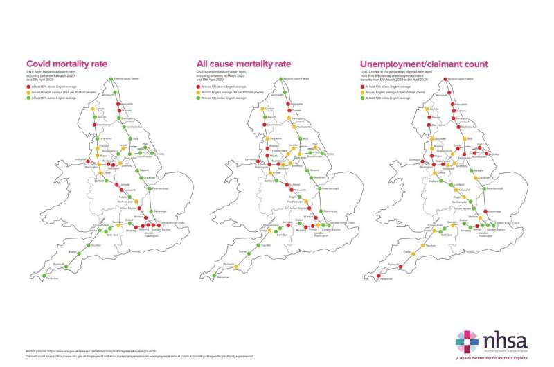 Northern England hit harder by COVID-19 and effects will last longer