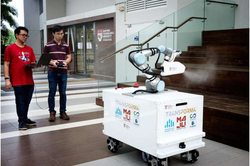 NTU Singapore researchers build disinfection robot to aid cleaners in COVID-19 outbreak