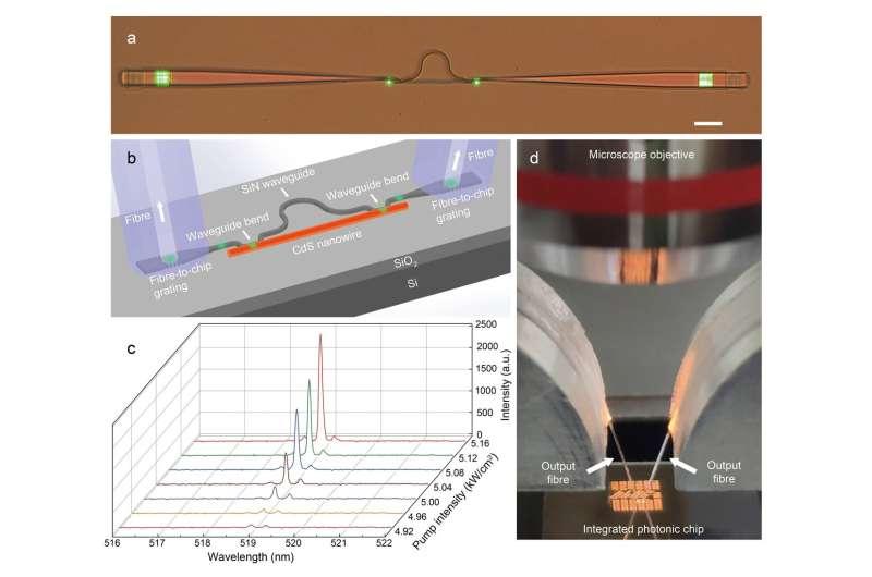On-chip single-mode CdS nanowire laser