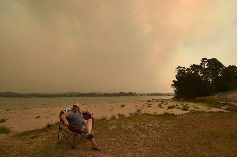 One resident of Batemans Bay described the scene as she fled as looking like the 'end of the world'