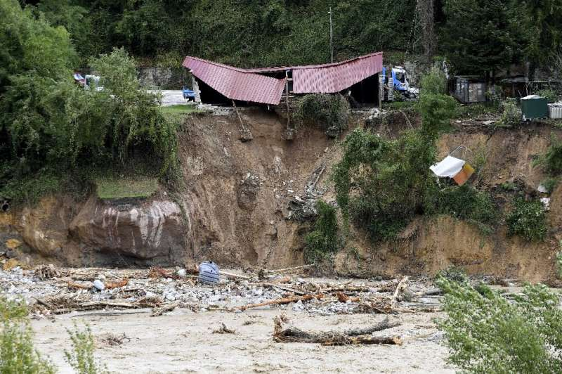 On the French side, rescue efforts were also being hampered after sections of roads collapsed