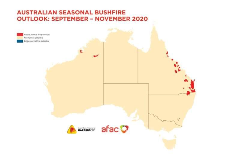 Outlook shows bushfire risk for spring