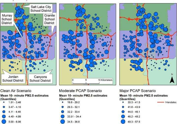 Persistent inequitable exposure to air pollution in Salt Lake County schools
